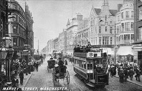 English Photographer - Market Street, Manchester, c.1910