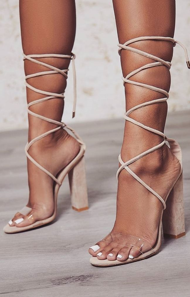 55f737ac9c6 Don t miss these  Bello  perspex lace up block heels on Your Next Shoes!