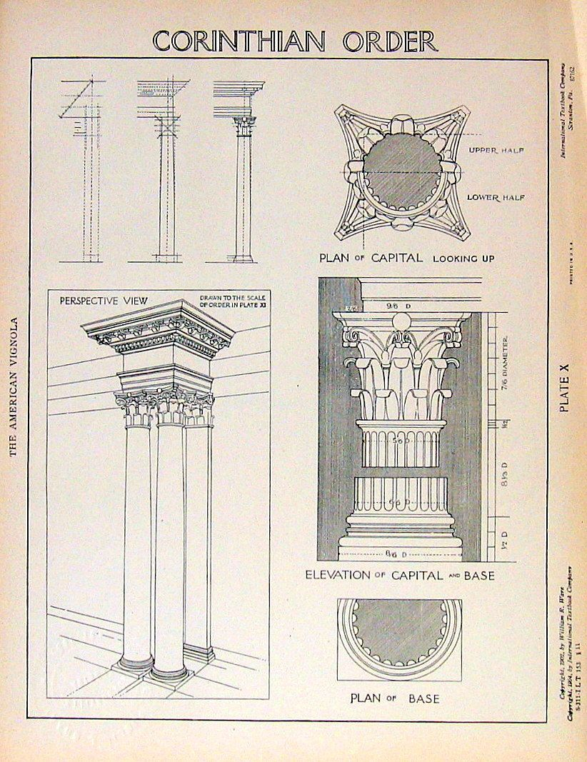 Architectural Drawings Corinthian Order By William R Ware