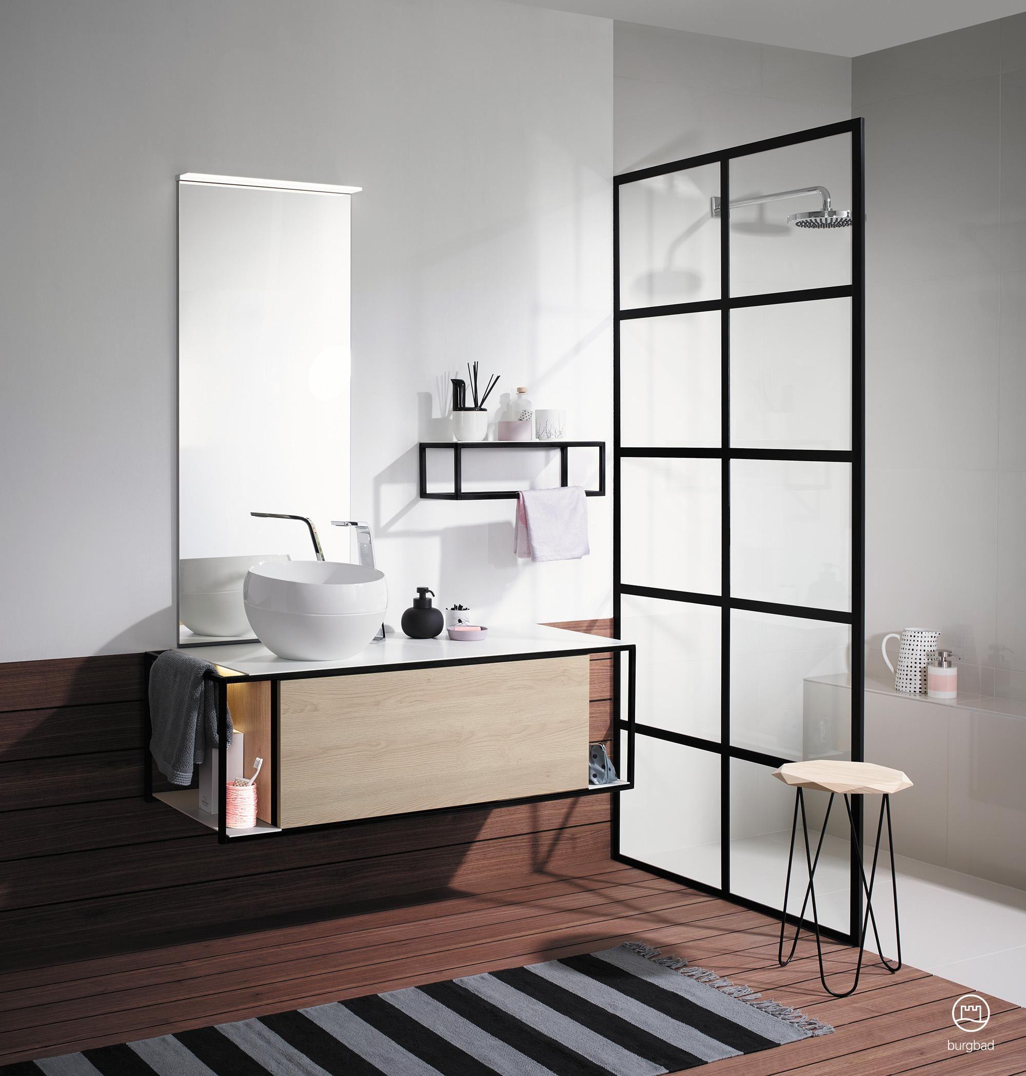 Modernes Badmobel Set Junit Von Burgbad Badezimmer Modernes Badezimmerdesign Badezimmer Innenausstattung Badezimmer
