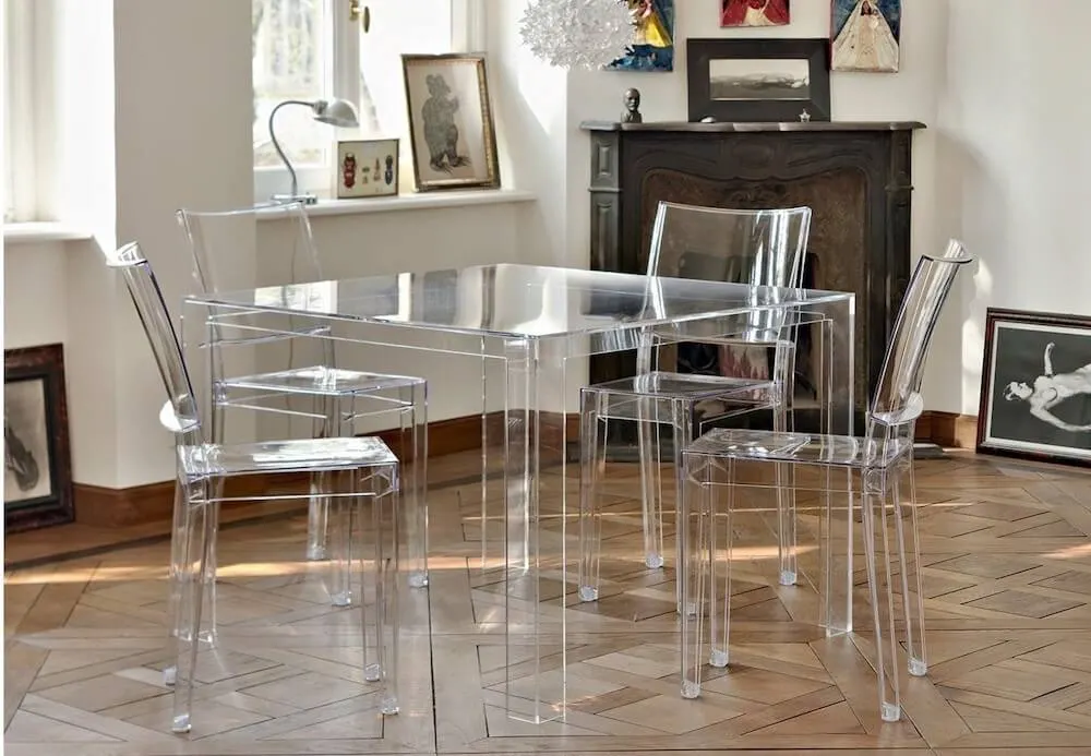 Invisible Dining Table In 2020 Modern Dining Room Furniture