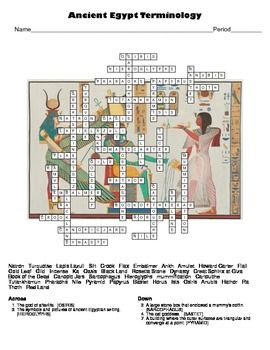 World Civilizations Ancient Egypt Crossword Puzzle Ancient