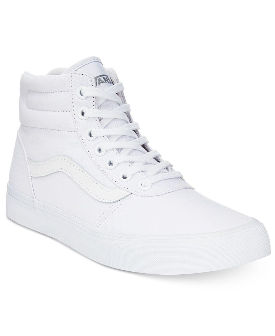 ef4feeab2698 Vans Women s Milton High-Top Sneakers - Sneakers - Shoes - Macy s ...
