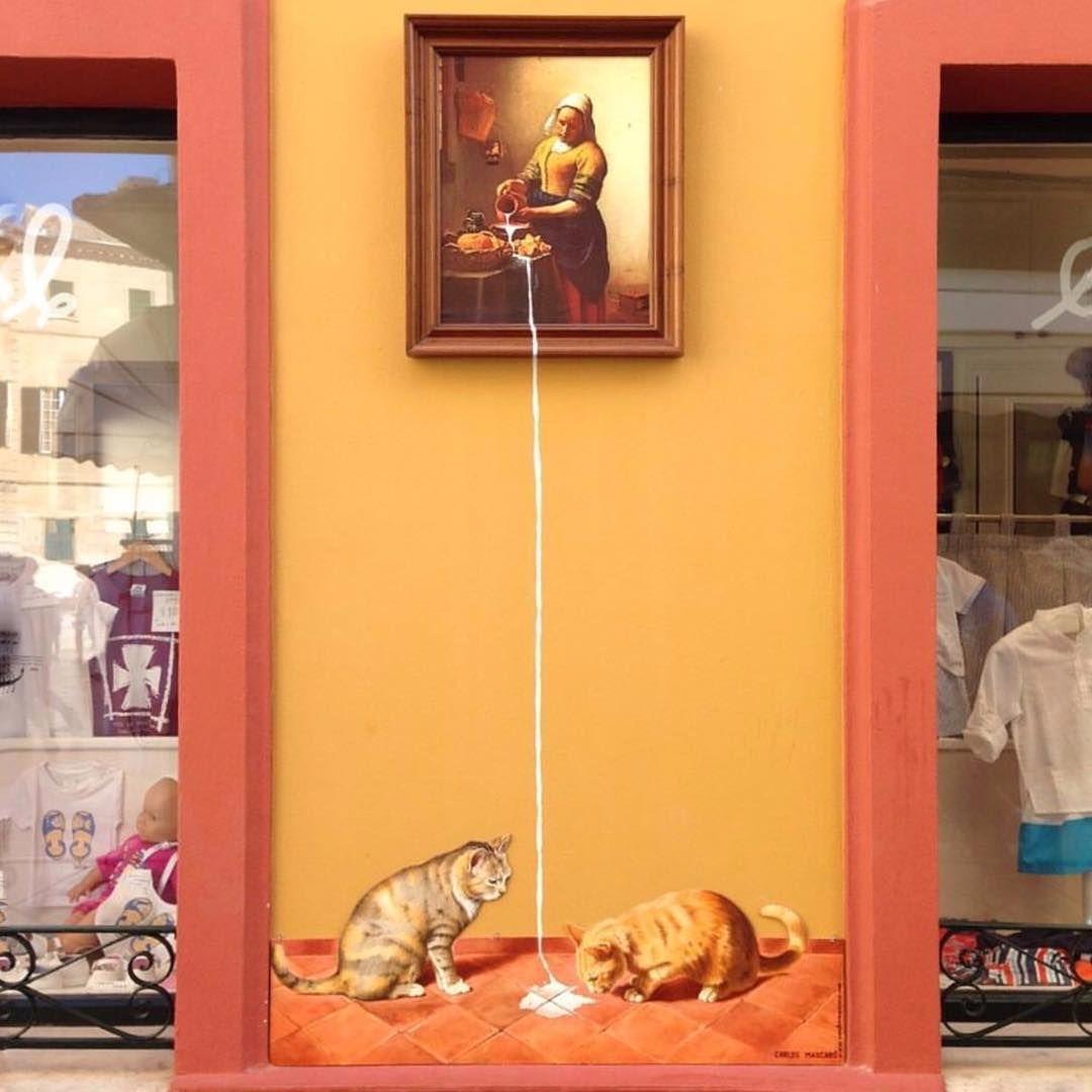 """Vermeer's Milmaid-Pussycats by #CarlosMascaro  www.UpFade.com"""