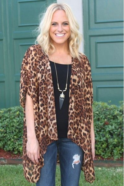 Image result for cheetah print kimono | My Style | Pinterest ...