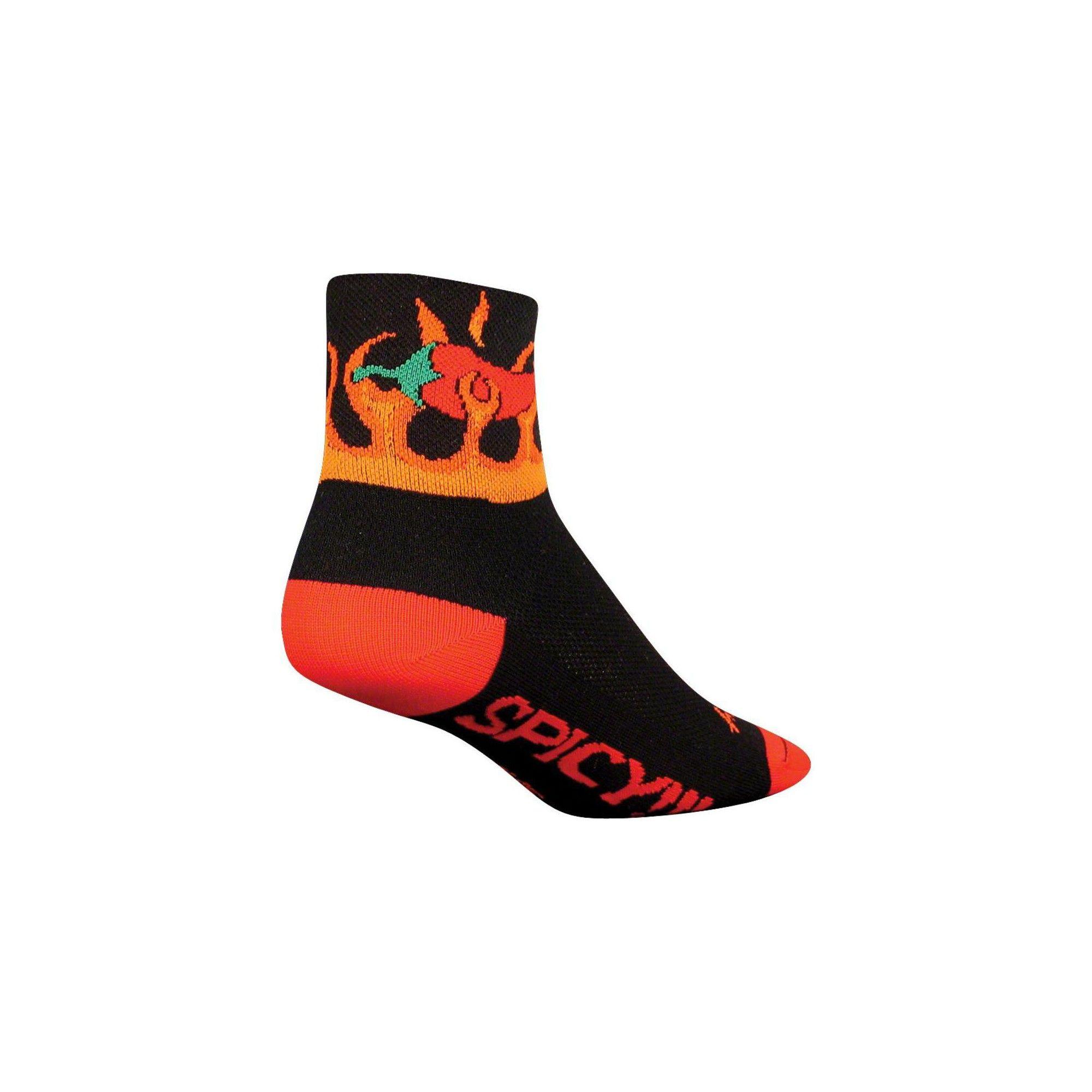SockGuy Classic Spicy Sock Black LG//XL