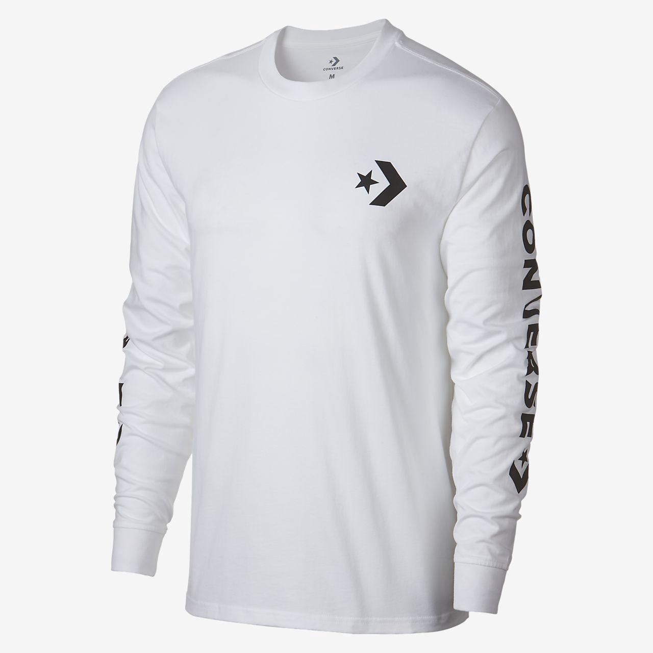 698b8778ed78 Converse Star Chevron Wordmark Men s Long Sleeve T-Shirt - XL ...