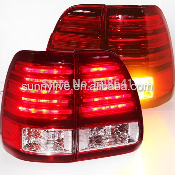 For Lexus Cygnus Lx470 Led Tail Light Rear Lamp 1998 2007 Year Red White Led Tail Lights Lexus Lx470 Cool Things To Buy