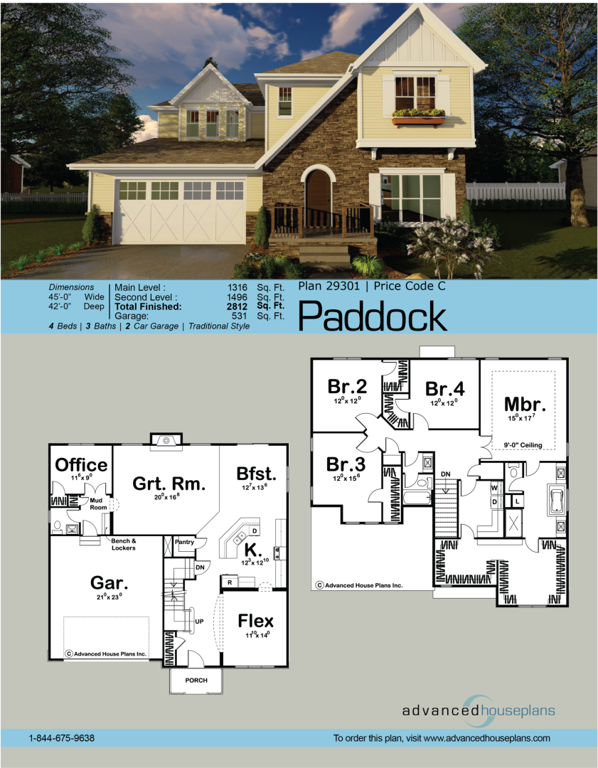Paddock 2 Story Traditional House Plan Huisjes