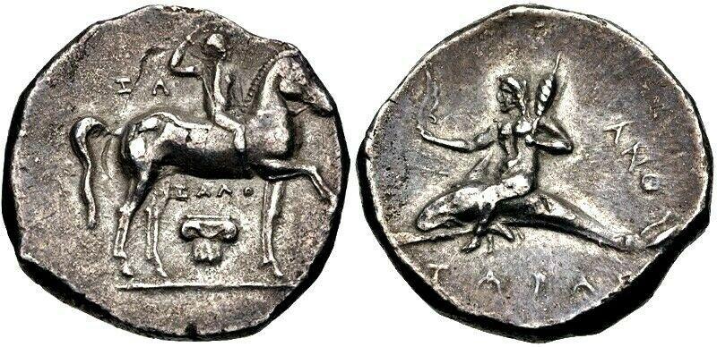 Tarentum, Calabria, ancient coins index with thumbnails