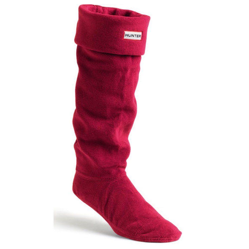 AmazonSmile: Hunter Adults Boxed Fleece Welly Socks: Clothing