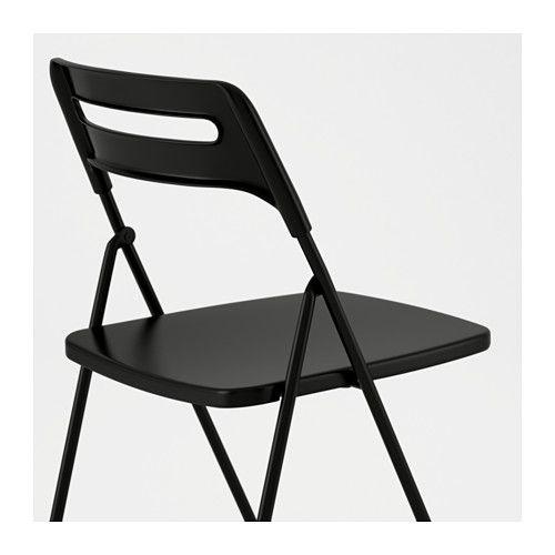 Nisse Chaise Pliante Noir Chaise Pliante Chaise Pliante Ikea Ikea