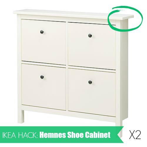 Ikea hack hemnes shoe cabinet how to install two hemnes for Ikea hemnes hack