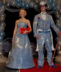 duct tape prom dress | Wedding Honolulu | Pinterest | Duct tape ...