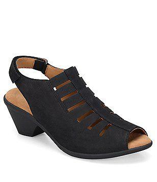 Comfortiva Faye Nubuck Slingback Sandals be1sv0