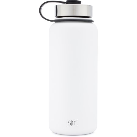 Simple Modern 32 Ounce Summit Water Bottle Stainless Steel Tumbler Metal Flask 2 Lids Wide Mouth Double Wall Vacuum Insulated White Leakproof Winter White Water Bottle Bottle Stainless Steel Water Bottle