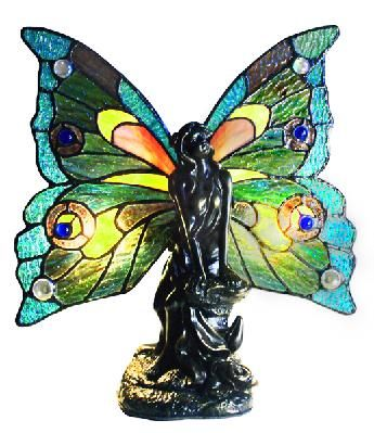 Glorious Fairy Stained Glass Accent Lamp   Stained Glass ...