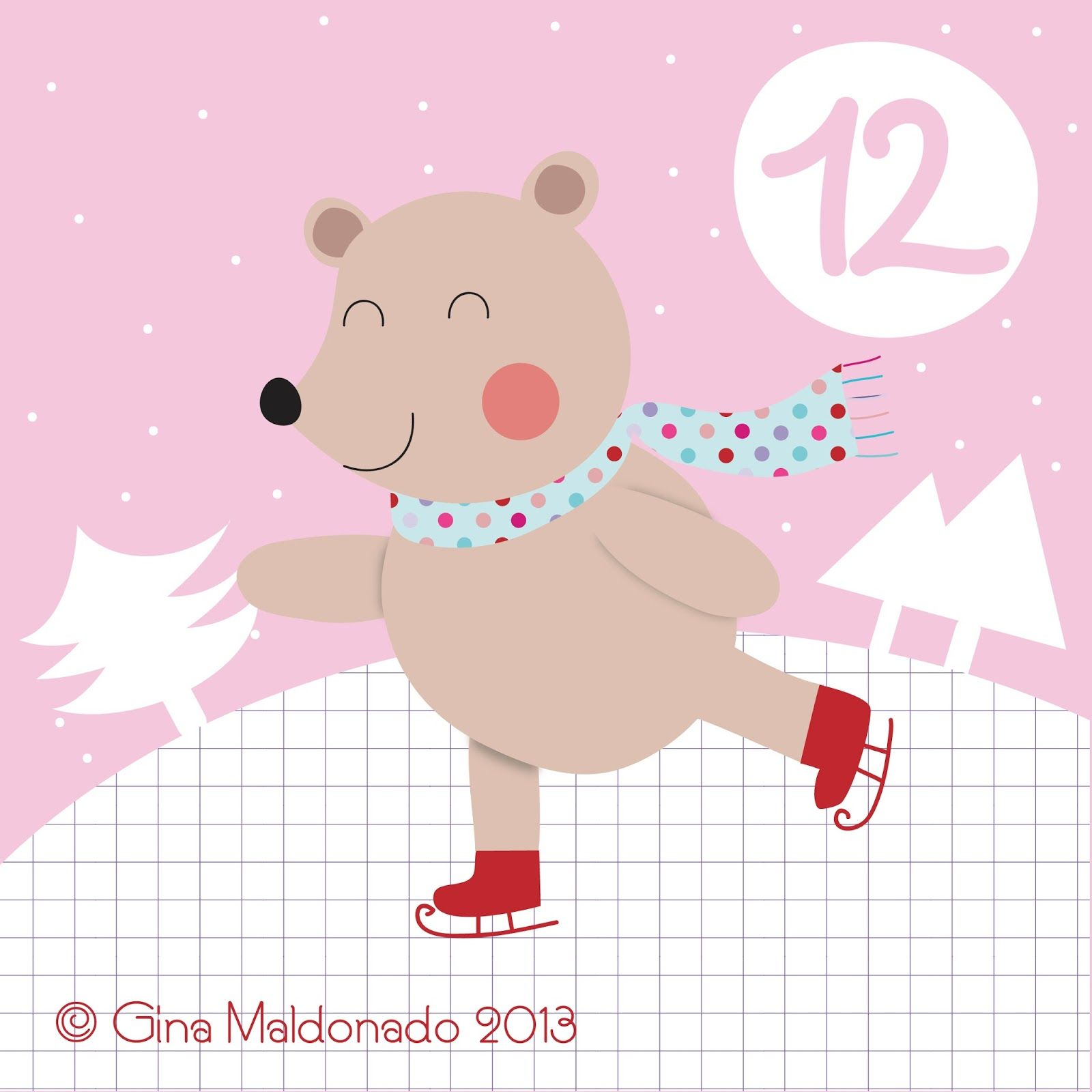 Advent 12 Joulukalenteri, Kuvitus