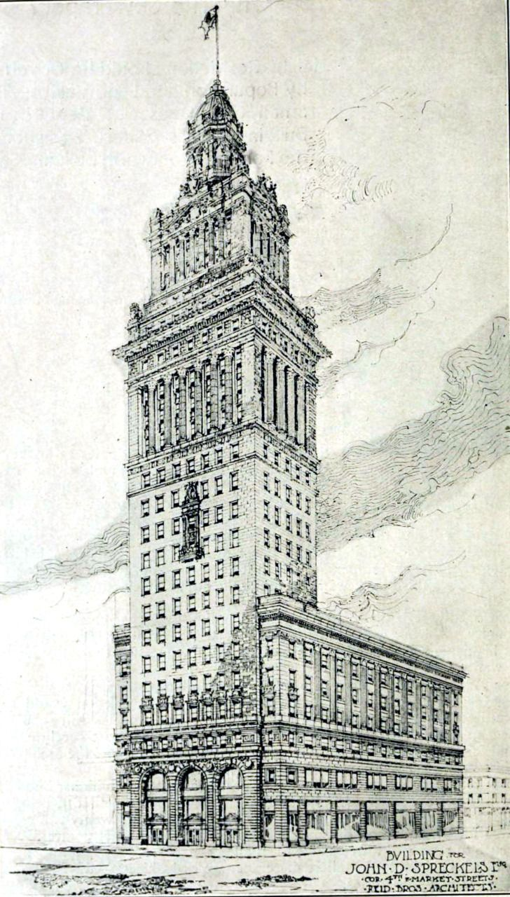 Projected building for John Spreckels, San Francisco