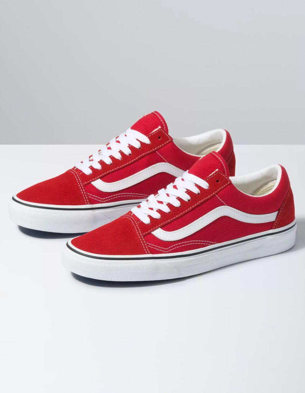 VANS Old Skool Racing Red \u0026 True White