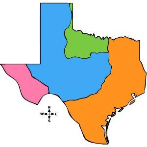 Regions Of Texas Map 4th Grade.The Four Regions Of Texas Texas History 4th Grade Social Studies