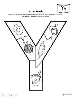 letter y puzzle printable alphabet worksheets preschool worksheets letter y worksheets. Black Bedroom Furniture Sets. Home Design Ideas