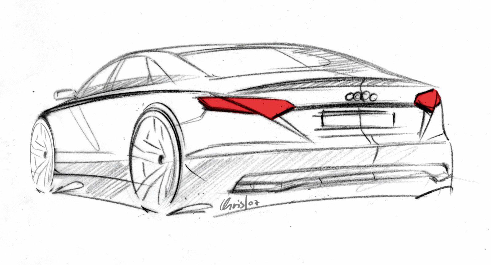 Audi A8 Design Sketch