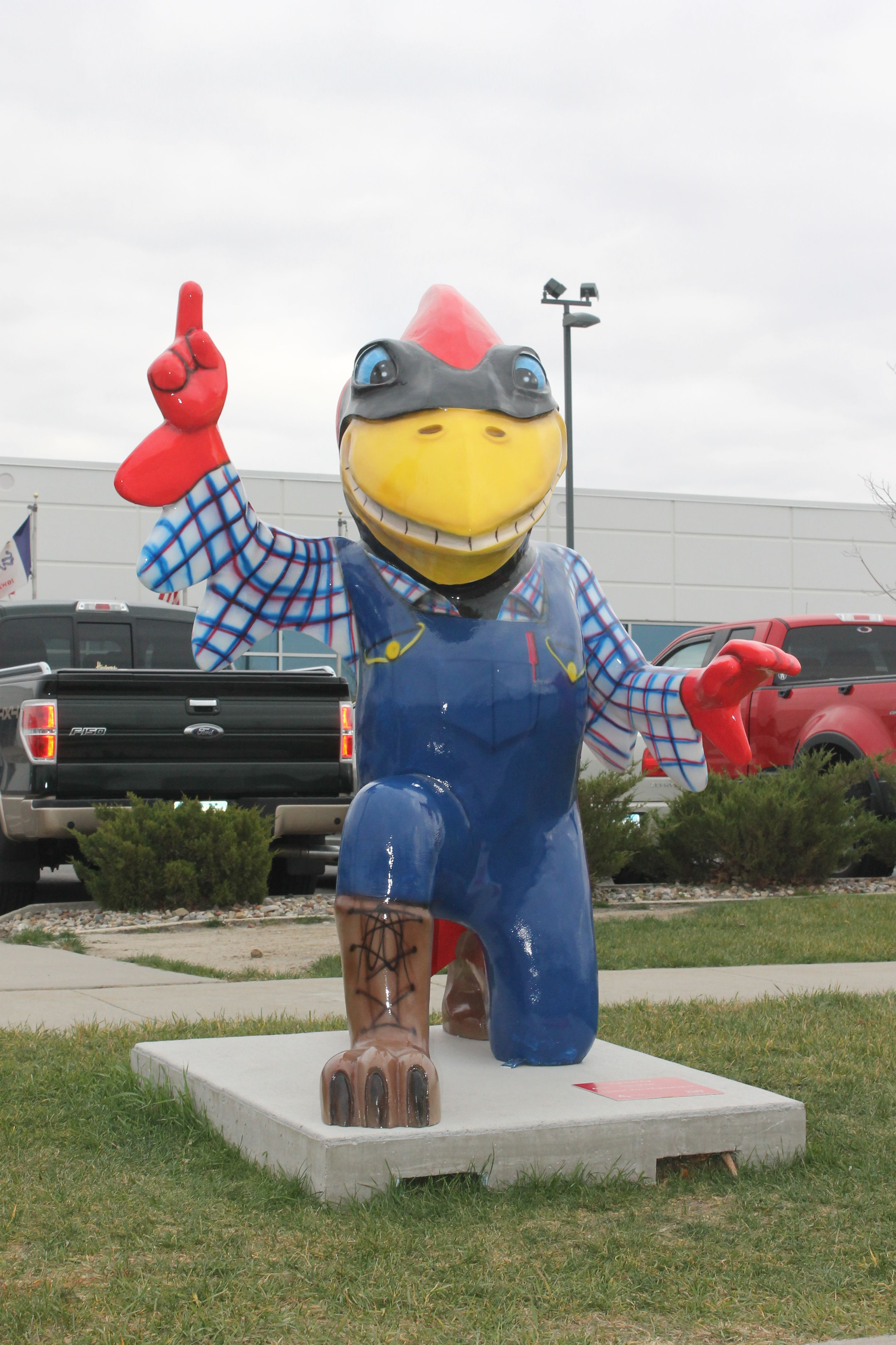 """""""Farmer Cy"""" is one of five CyclONE City statues that will"""