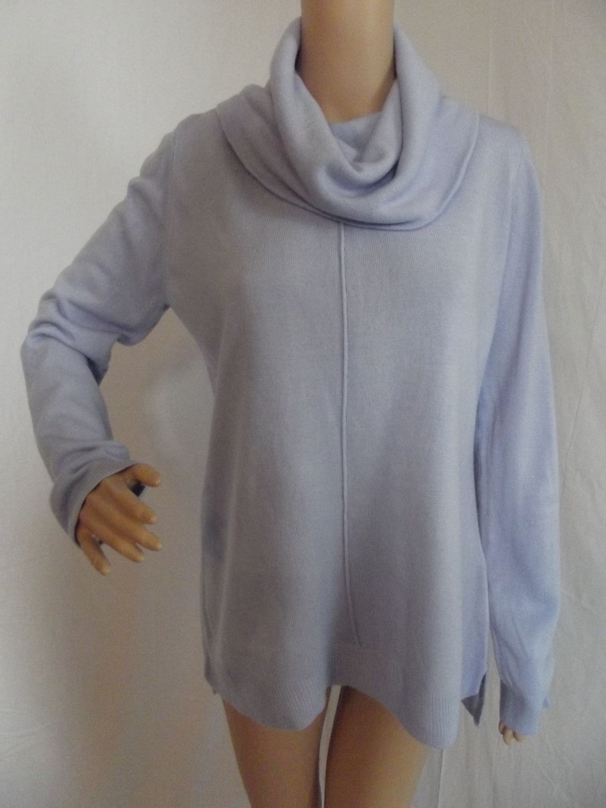 8bd4b1dd433 9.99 | ROZ & ALI Large LIGHT PASTEL PURPLE COWL NECK SWEATER long tunic L ❤  #large #light #pastel #purple #sweater #tunic #Fotography #indie #handmade  ...