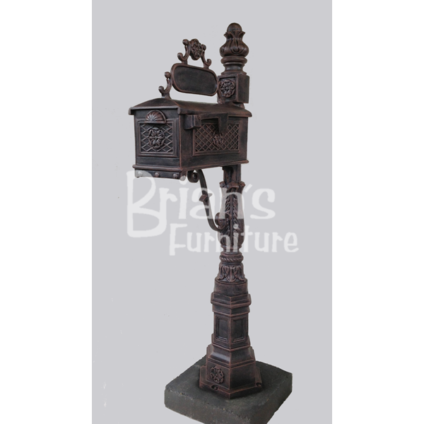Flower Cast Aluminum Mailbox On Louisiana Post | Brianu0027s Furniture