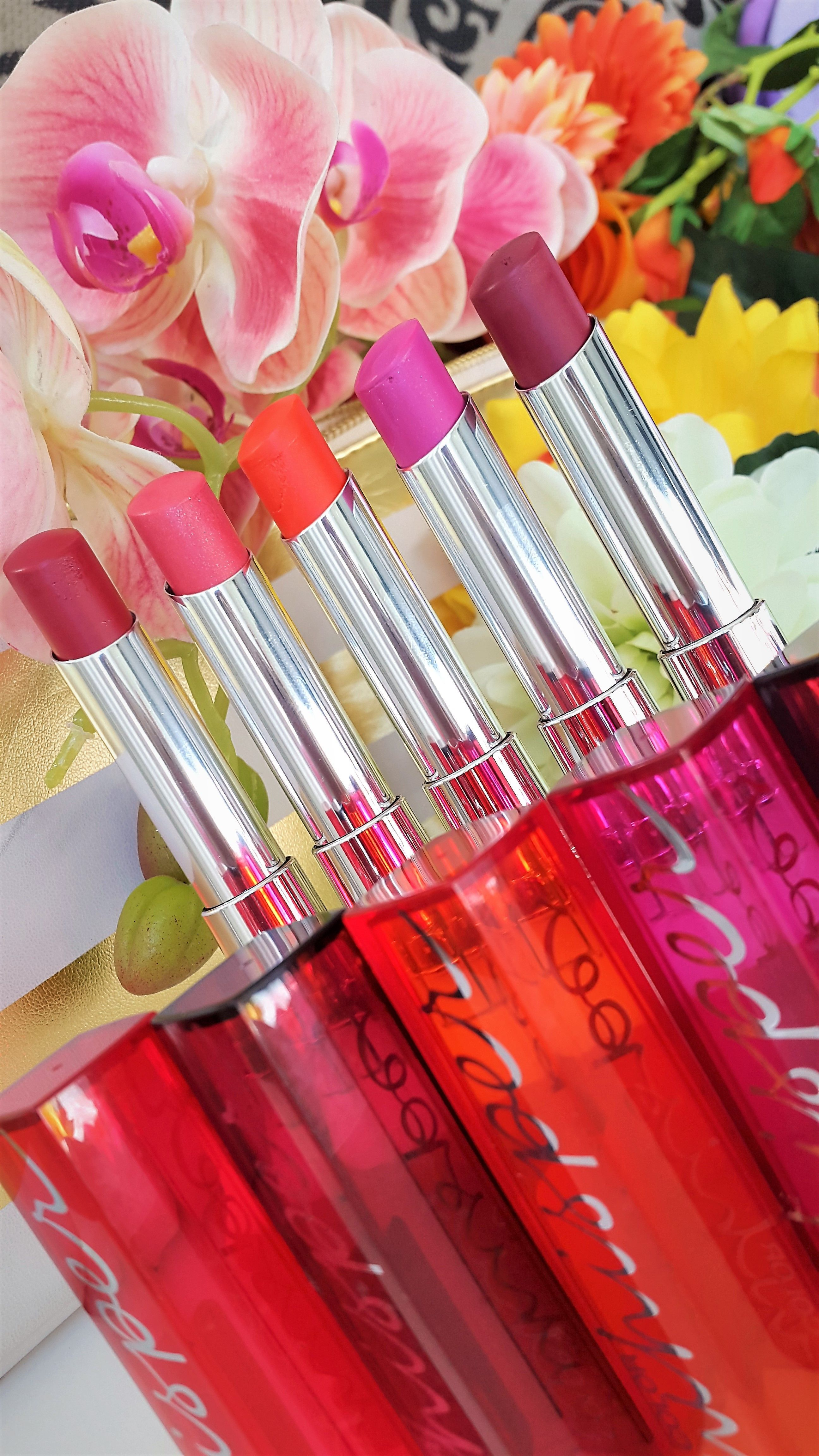 Maybelline Color Whisper Lipsticks in my lipstick collection.