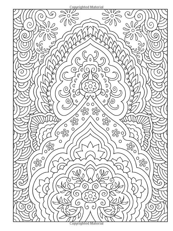 Creative Haven Mehndi Designs Coloring Book Traditional Henna Body Art Parchment Patterns