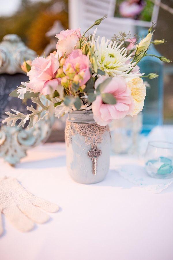 Ball Jar Wedding Decorations 40 Romantic Pink Wedding Ideas For Springsummer Wedding  Wedding