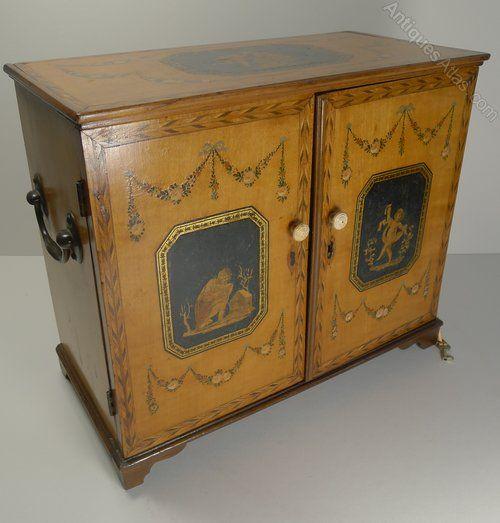 Antiques Atlas - English Regency Jewellery Cabinet - Hand Painted - Antiques Atlas - English Regency Jewellery Cabinet - Hand Painted