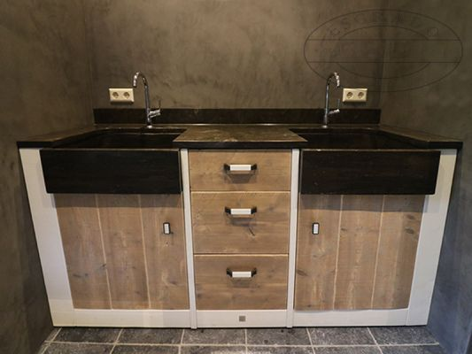 Verrassend badkamermeubel-Brian twee personen wastafel. Wastafel met 2 ZJ-23