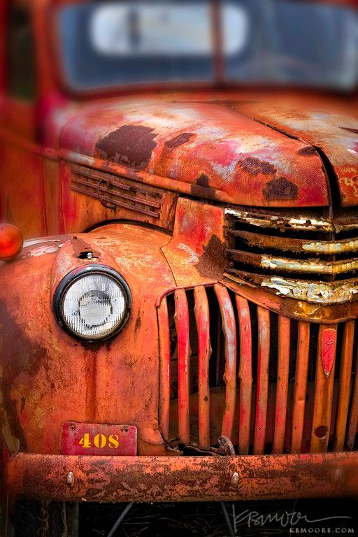 A Fabulous Image Of A Rusty Red Truck One Of 8 Picks For This