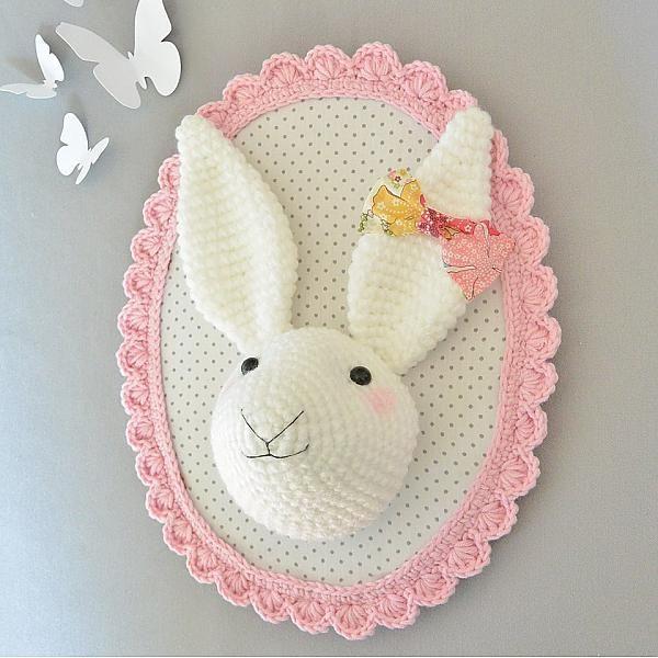 Pitimana, trophee, lapin, rabbit, bunny Crochet Pinterest Bout