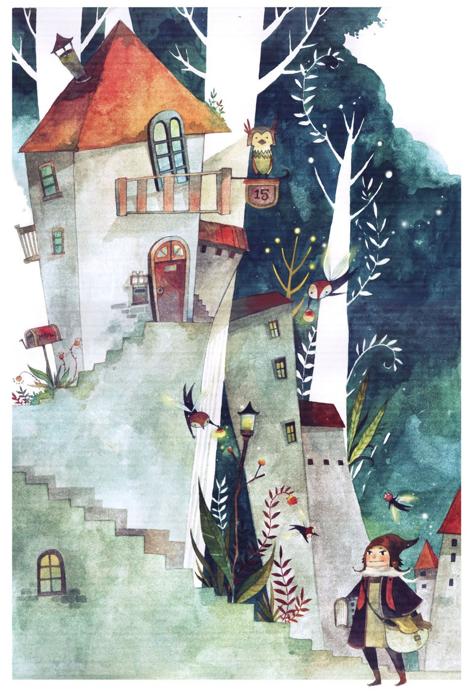 Mae Besom Illustration Watercolor Illustration