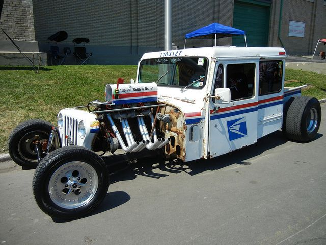 Hot Rod Mail Truck July 2011 With Images Mail Truck Rat Rods