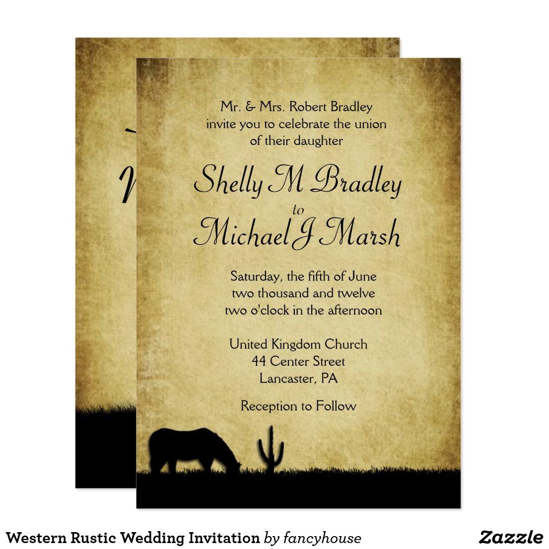 Western Rustic Wedding Invitation | Weddings