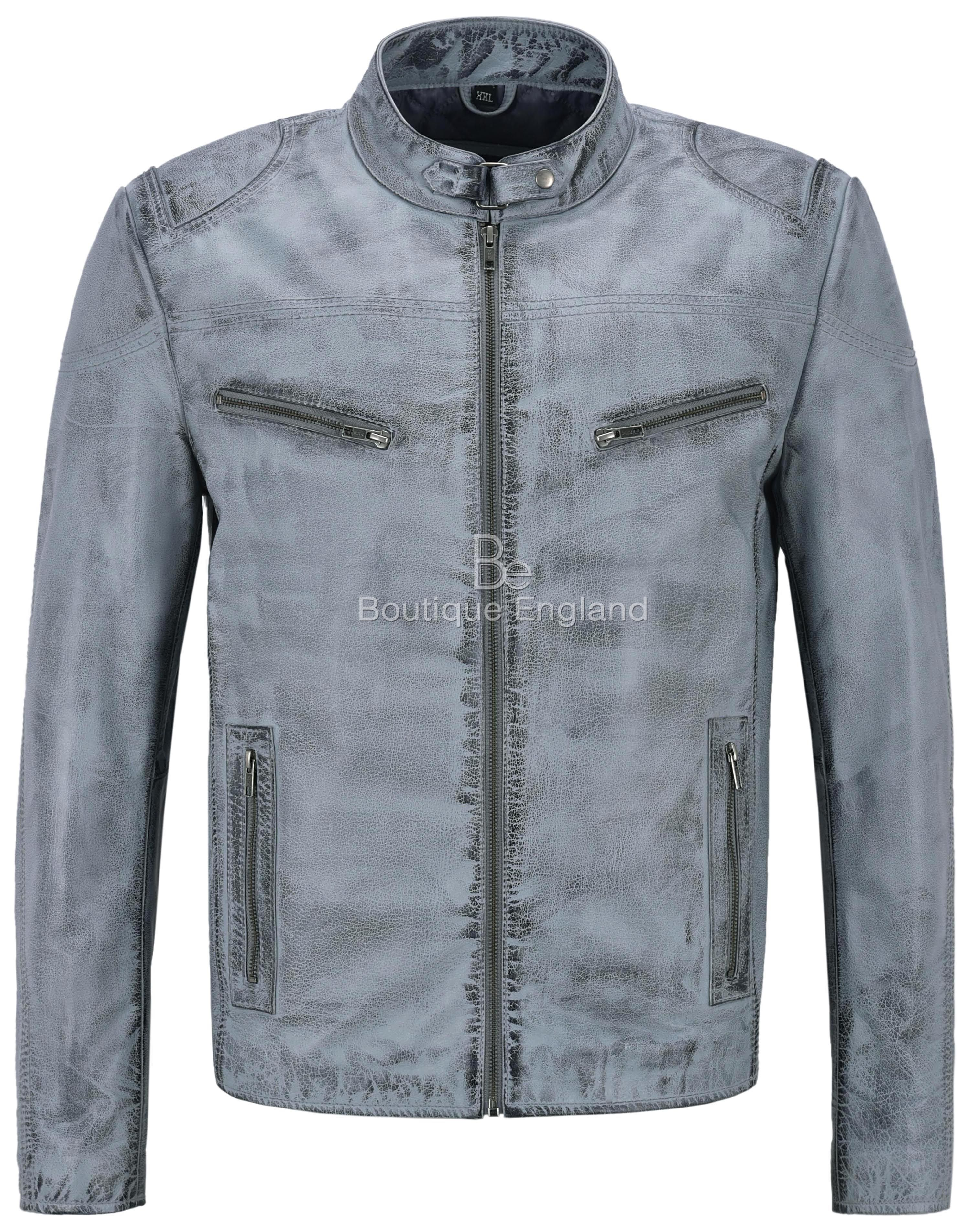 1345 New Men/'s Grey SUEDE Classic TRUCKER Real Western Leather Jacket