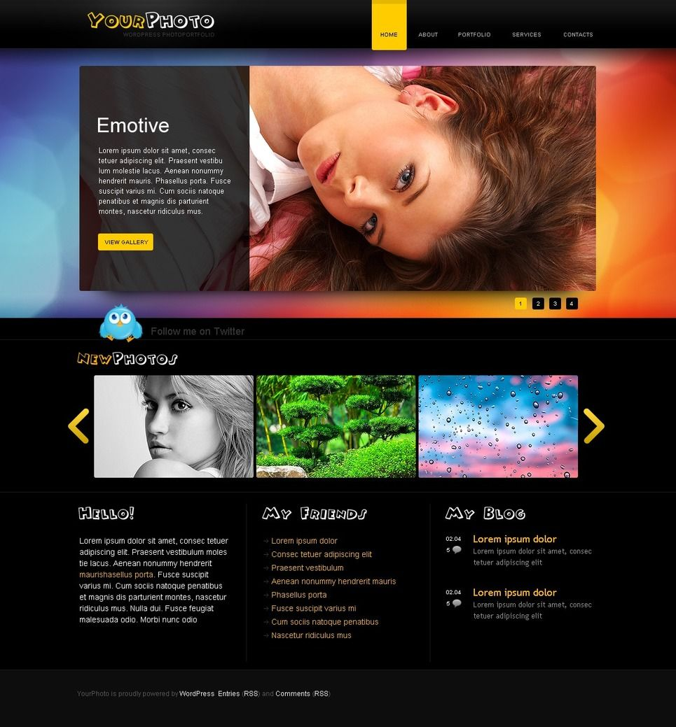 Photographer Portfolio PSD Template #50008