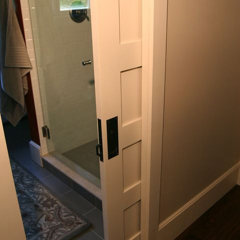 Bathroom pocket door design ideas pictures remodel and for Jack and jill bathroom with hall access