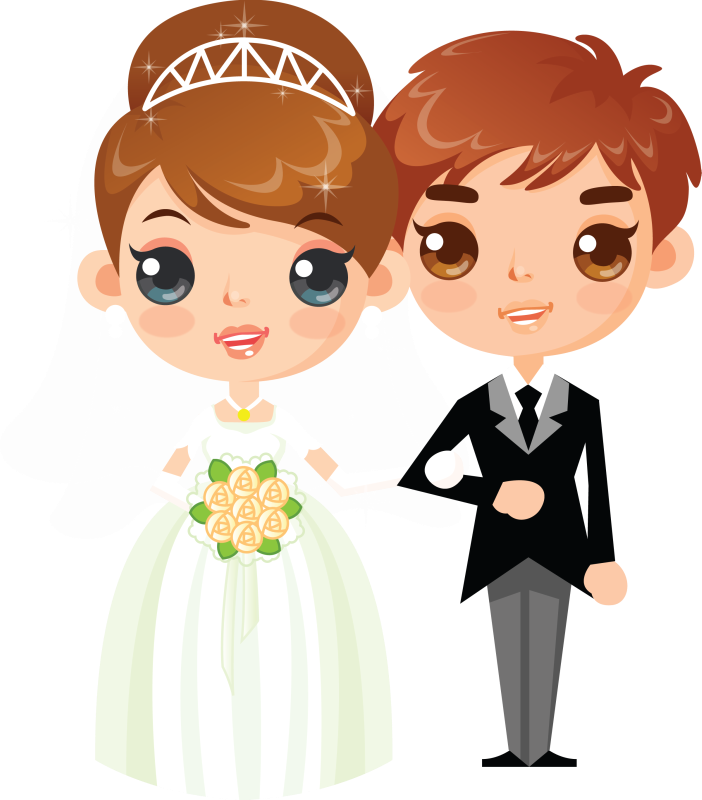 Прикольные картинки жених с невестой