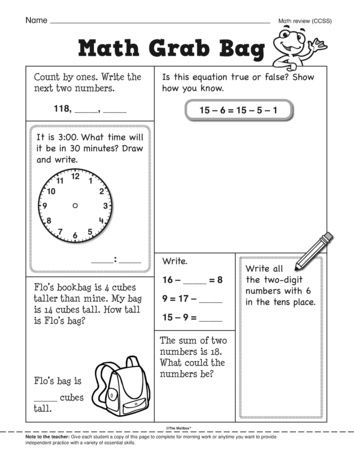 A review of important math skills. A freebie from The
