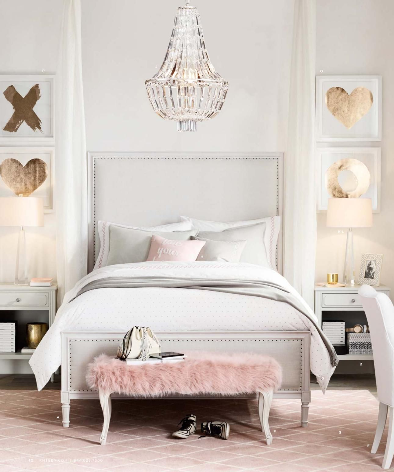 love everything in this room but maybe add a little pop on cute bedroom decor ideas for teen romantic bedroom decorating with light and color id=64267