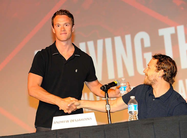 2015 Convention: Day 2 -  Jonathan Toews and Andrew Desjardins