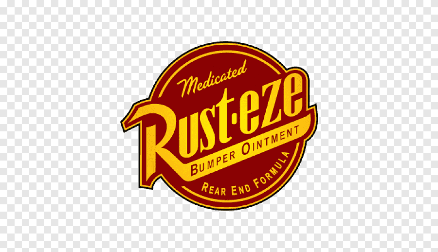 Rust Eze Bumper Ointment Logo Lightning Mcqueen Cars Logo Car Label Text Png In 2021 Disney Cars Characters Car Logos Car Stickers Funny