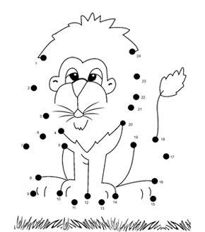 Lion Dot To Dot Summer Ideas