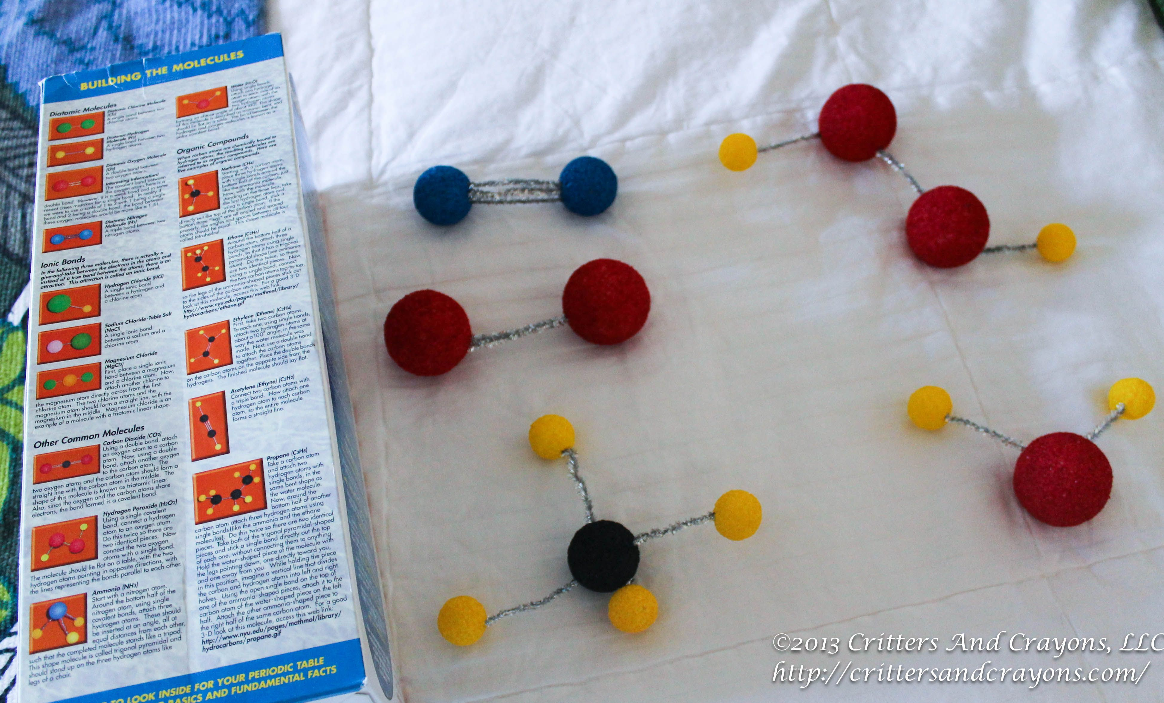 making molecules with kids a post from critters and